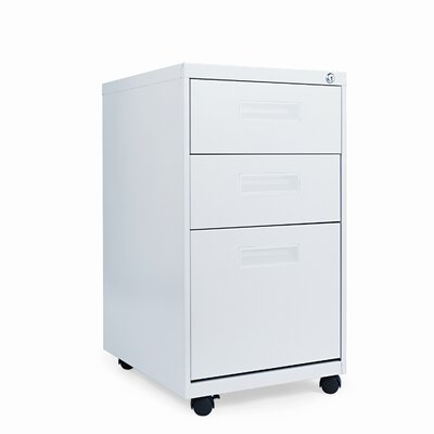 "Alera® 19.75"" Three-Drawer Mobile Pedestal File"