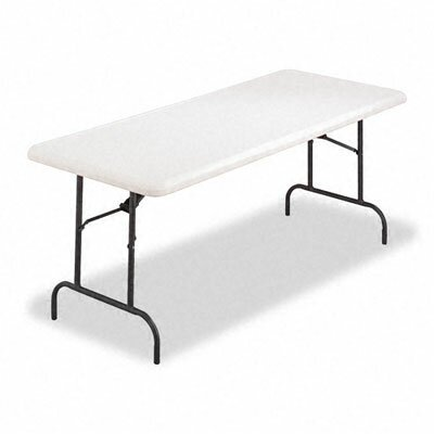 Alera® 500 lb Capacity Rectangular Resin Folding Table in Platinum