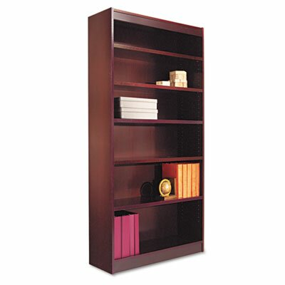 Alera® Six-Shelve Square Corner Bookcase