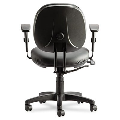 Alera® Interval Series High-Performance Swivel/Tilt Task Chair, Black Leather