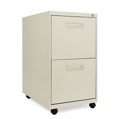 "Alera® 23.25"" Two-Drawer Mobile Pedestal File"