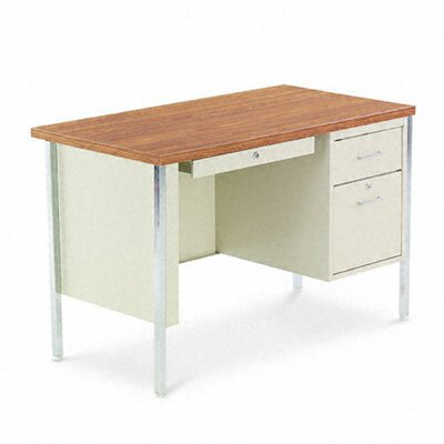 Alera® Single Pedestal Steel Computer Desk