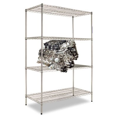 "Alera® Four-shelf 48"" W x 24"" D Industrial Wire Shelving Starter Kit"
