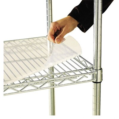 "Alera® 48"" W x 18"" D Shelf Liners for Wire Shelving in Clear Plastic"