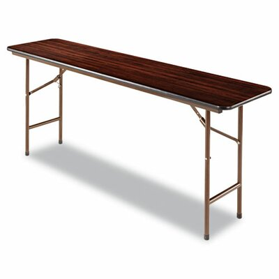 Alera® Folding Table in Walnut