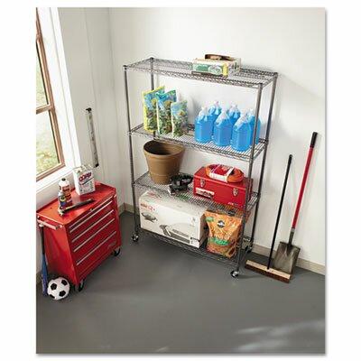 "Alera® Complete Wire 72"" H 4 Shelf Shelving Unit"