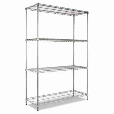 Alera® Complete Wire Shelving Unit with Casters in Black Anthracite