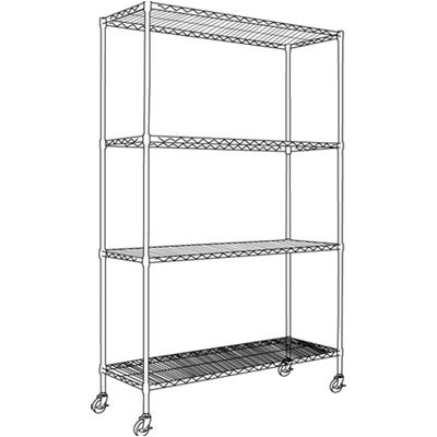 "Alera® Complete Wire 72"" H 3 Shelf Shelving Unit"