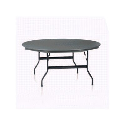 "KI Furniture 72"" Round Duralite Folding Table"