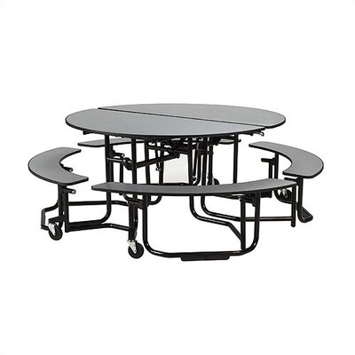 KI Furniture Uniframe Table with Split Bench Seats