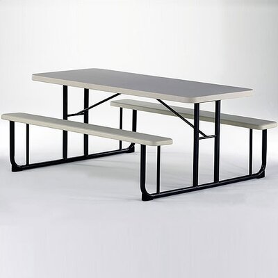 KI Furniture Valuelite Blow-Molded Picnic Table