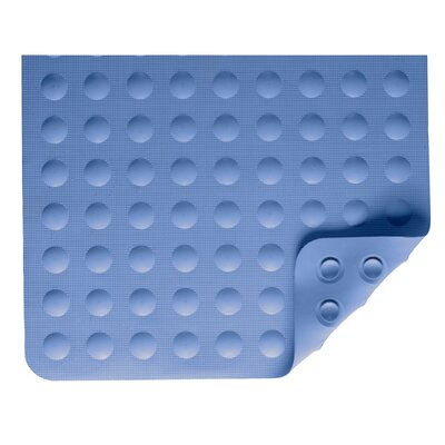 Rubber Bath Mat in Blue