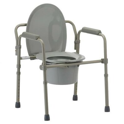 Nova Ortho-Med, Inc. Folding Commode with Elongated Seat