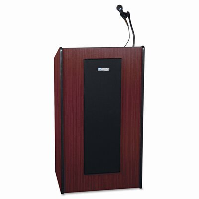 AmpliVox Sound Systems Presidential Plus Lectern, 25-1/2w x 20-1/2d x 46-1/2h, Mahogany                                                             
