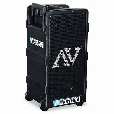 AmpliVox Sound Systems Portable Wireless Digital Travel Partner Public Address System, Black