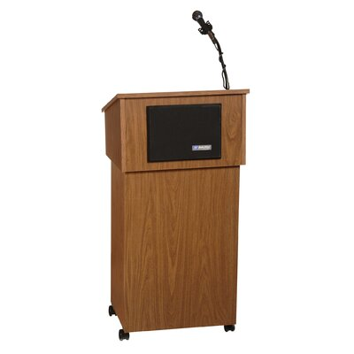 AmpliVox Sound Systems Tabletop Lectern and Lectern Base