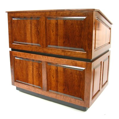 AmpliVox Sound Systems Ambassador Multimedia Lectern in Natural Walnut