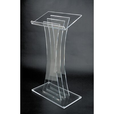 AmpliVox Sound Systems Contemporary Acrylic Lectern