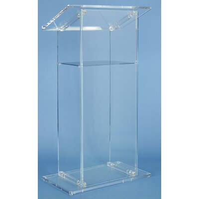 AmpliVox Sound Systems Lectern in Clear