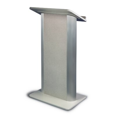 AmpliVox Sound Systems Gray Granite Lectern with Satin Anodized Aluminum