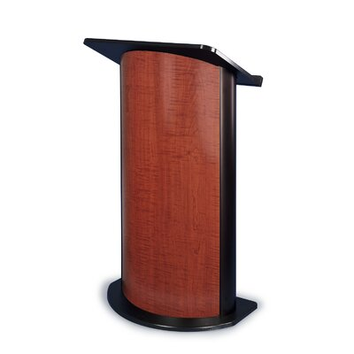 AmpliVox Sound Systems Sippling Seattle Java Lectern with Black Anodized Aluminum