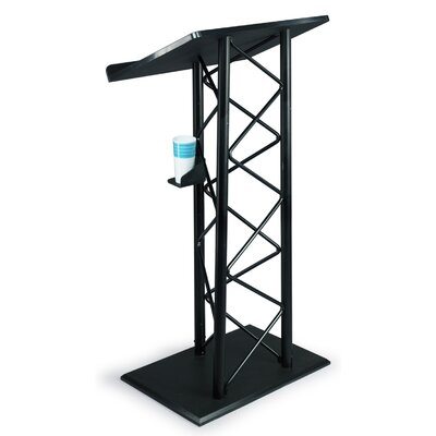 AmpliVox Sound Systems Truss Lectern in Black Anodized