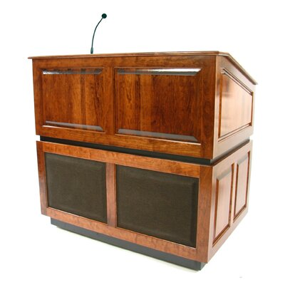 AmpliVox Sound Systems Ambassador Lectern in Natural Walnut