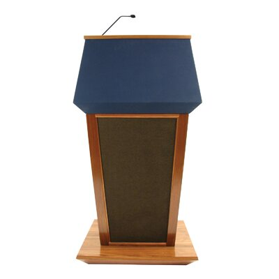 AmpliVox Sound Systems Patriot Lectern in Natural Walnut