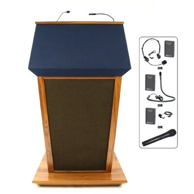 AmpliVox Sound Systems Wireless Patriot Plus Lectern in Natural Walnut