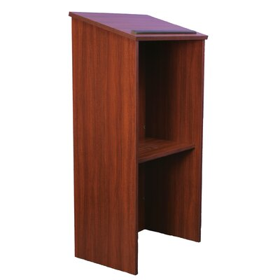 AmpliVox Sound Systems One-Piece Full-Height Stand-Up Lectern without Sound