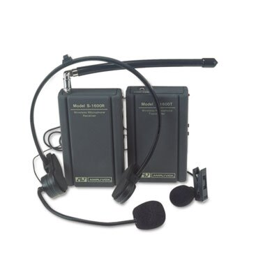 AmpliVox Sound Systems Wireless Lapel Microphone Kit, Two Frequencies, 300 ft. Range