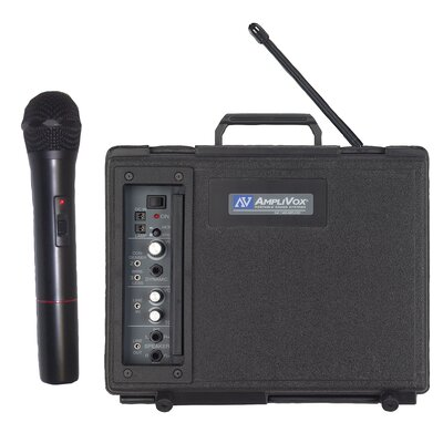 AmpliVox Sound Systems Wireless Handheld Audio Portable Buddy 50 Watt PA System