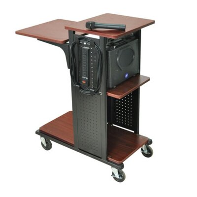 "AmpliVox Sound Systems 34.5"" Mobile Presentation Station in Black"