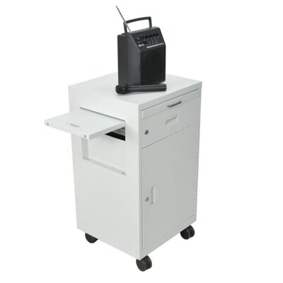 AmpliVox Sound Systems Multimedia Cart with Locking Cabinet