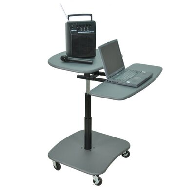 AmpliVox Sound Systems Hydraulic Adjustable Multimedia Cart
