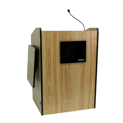 "AmpliVox Sound Systems Wired44"" Multimedia Presentation Podium"