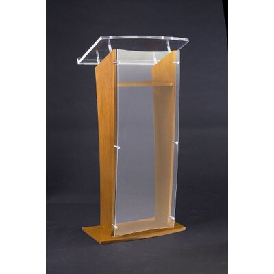 AmpliVox Sound Systems Acrylic Panel Lectern