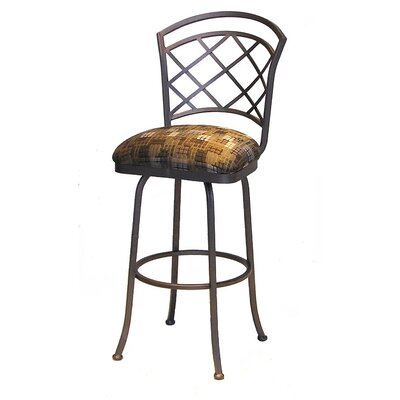 "Tempo Bradley 26"" Swivel Bar Stool with Cushion"