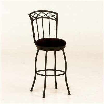 Tempo Porterville Swivel Bar Stool - Matte Black Finish