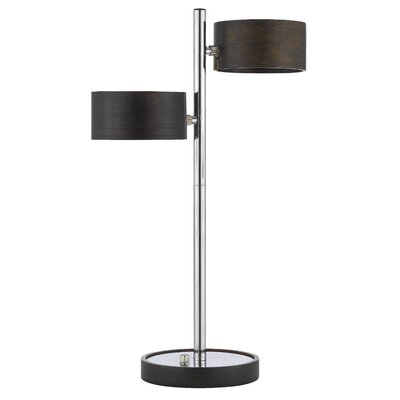 Cal Lighting Two Light Table Lamp in Chrome