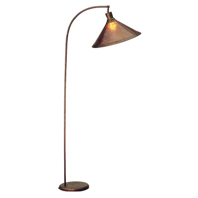 Cal Lighting Arc Floor Lamp with Mica Shade in Rust