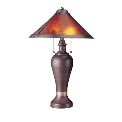 Cal Lighting Table Lamp in Rustic Brown