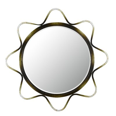 Cal Lighting Lorca Metal Mirror with Beveled Glass in Metallic/Dark Bronze