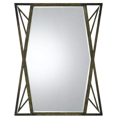 Cal Lighting Pavia Metal Mirror with Beveled Glass in Dark Bronze