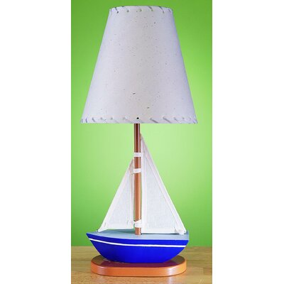 Cal Lighting Juvenile Sail Boat Table Lamp