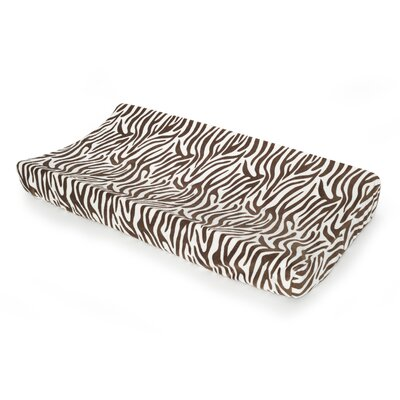 Carter's Basics Zebra Velour Changing Pad Cover