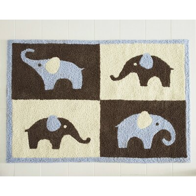 Carter's® Blue Elephant Rug