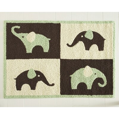 Carter's® Green Elephant Rug