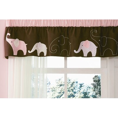 Carter's® Pink Elephant Curtain Valance