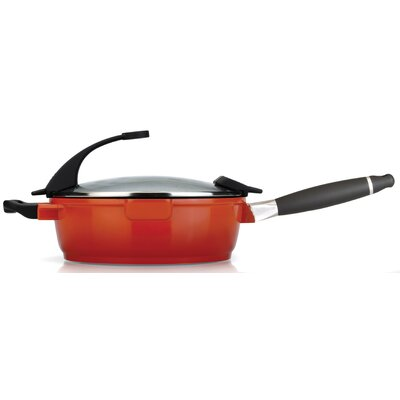 "BergHOFF International Virgo 10.5"" Covered Deep Skillet with Lid"
